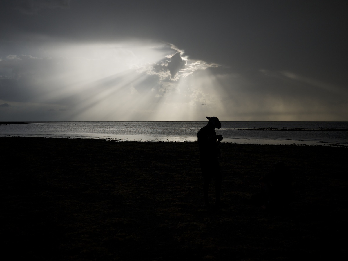 The Hybrid solar eclipse, as seen from Sibiloi, Kenya on the shores of Lake Turkana