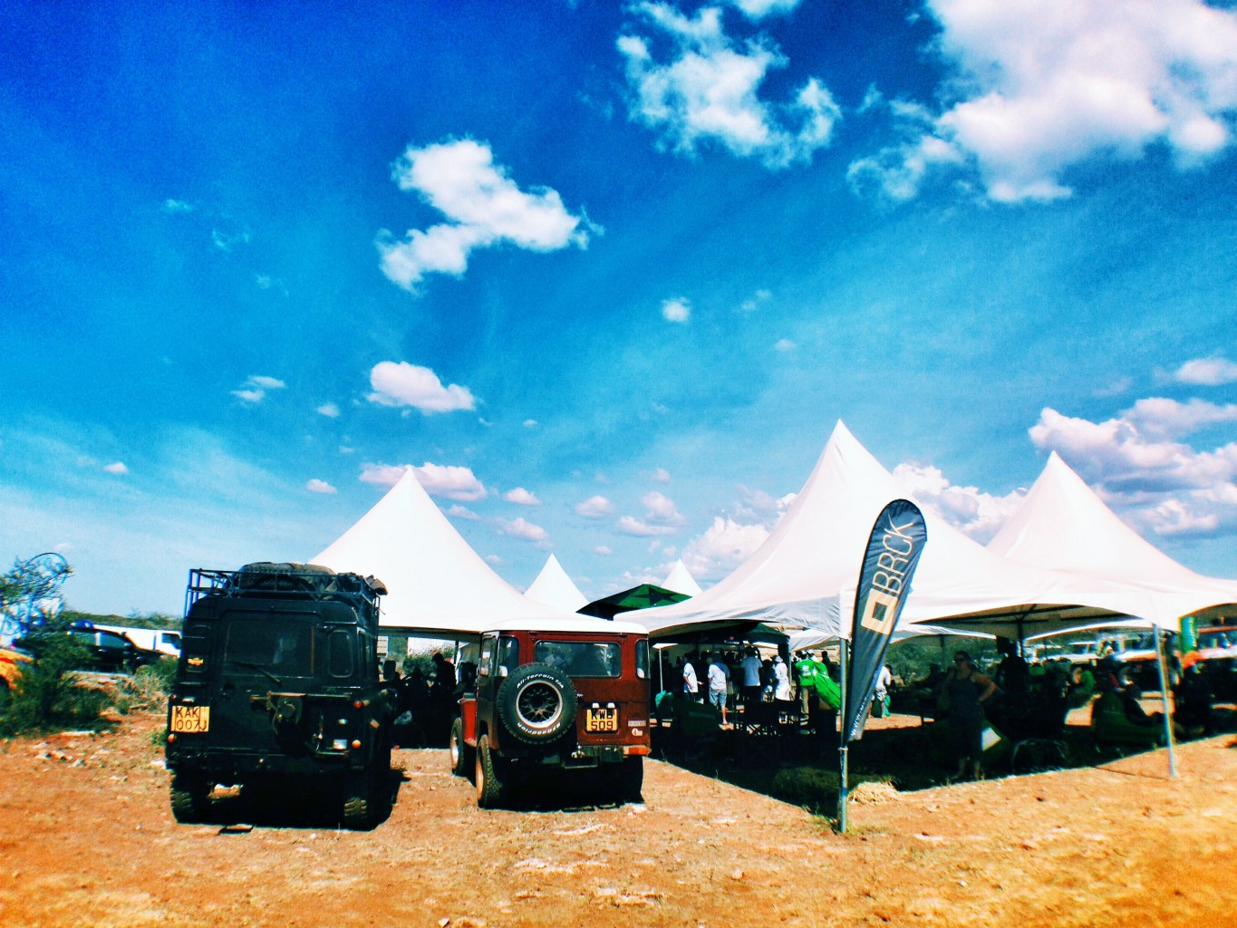 The BRCK team sets up at the Rhino Charge 2014