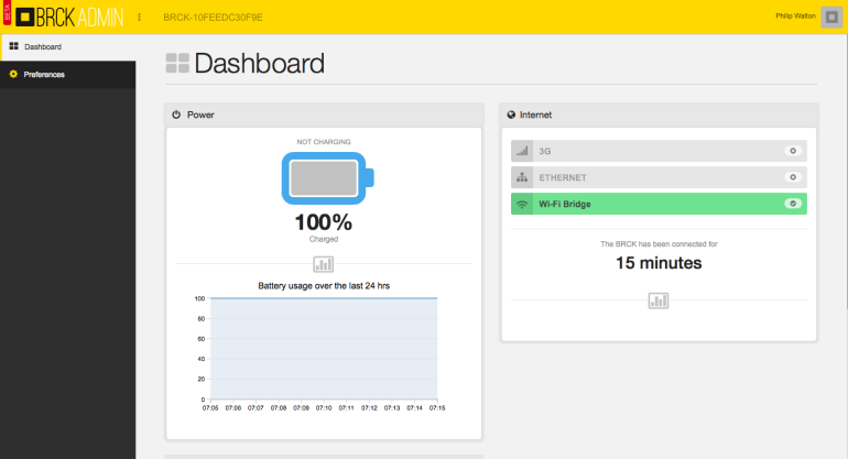 BRCK Cloud Dashboard