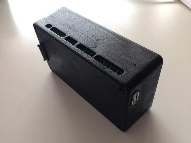 The new 3d printed GPIO case prototype for BRCK