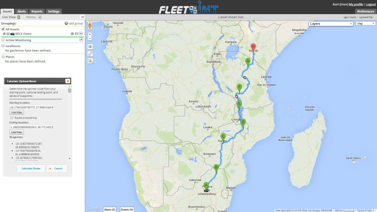The route back north to Kenya