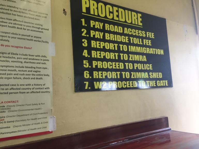 Beit Bridge border process into Zimbabwe