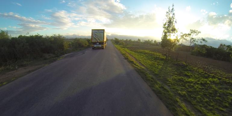 Sunrise riding is beautiful