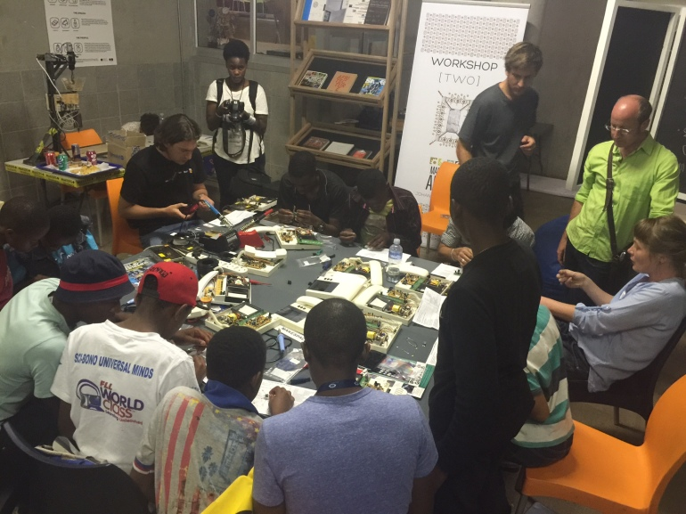 Maker Faire Africa 2014 workshop