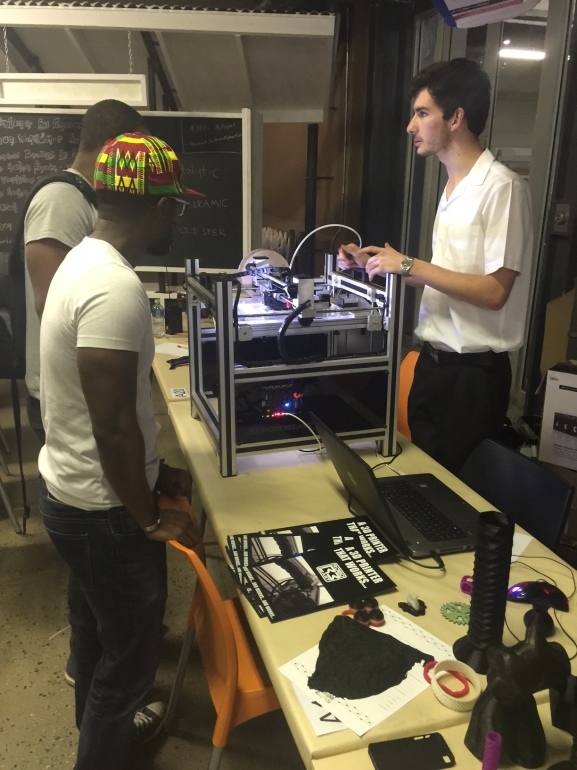 A 3d printing station at MFA 2014