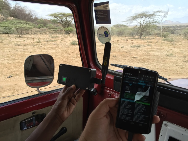 Using an Android app with the BRCK to test signal in the vehicle