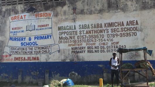 School advertising in Mbagala area