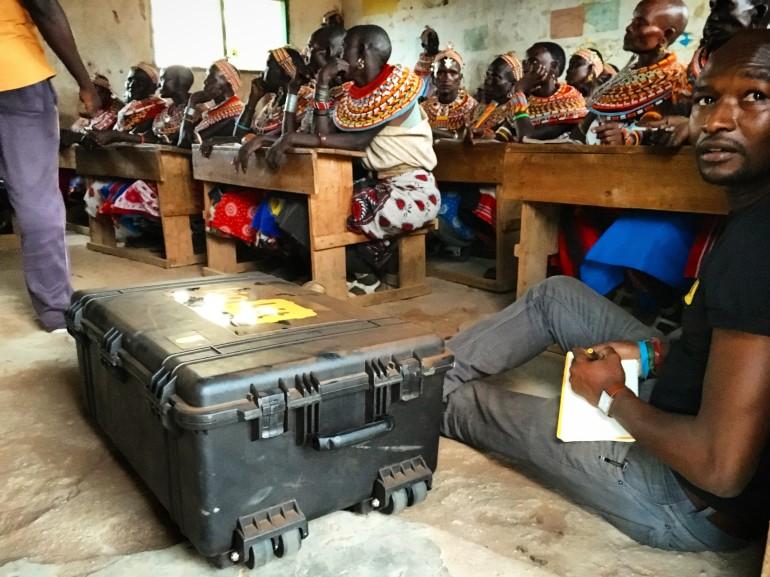 The Kio Kit about to be introduced to Samburu women
