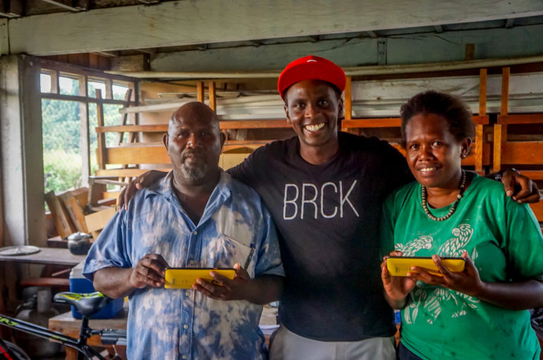 Peter with teachers in the Solomon Islands