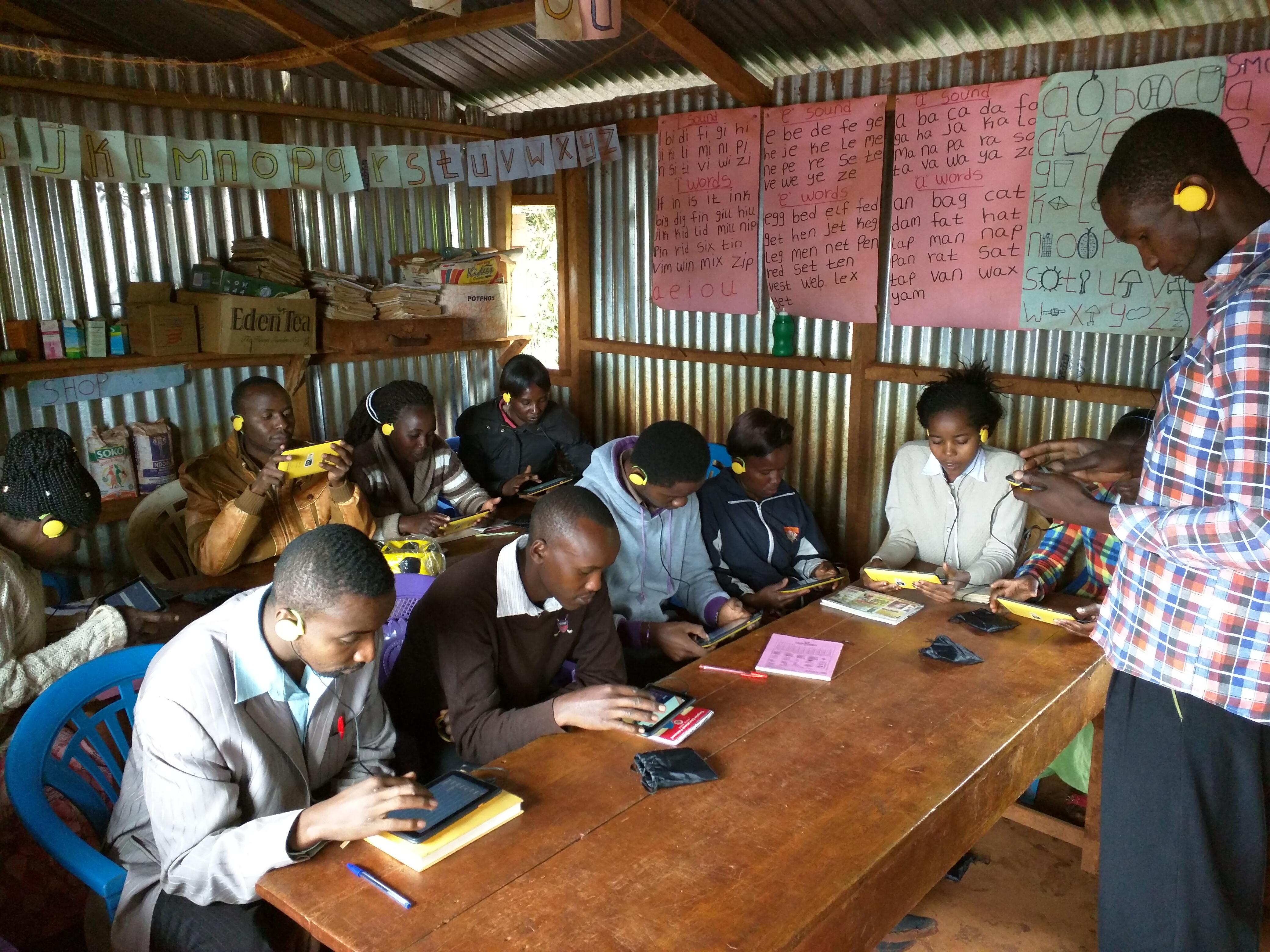 One of the Swahili teachers heading a lesson.