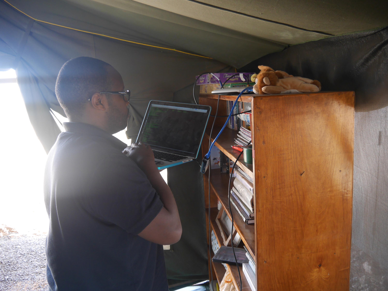 Amboseli - Brian at work